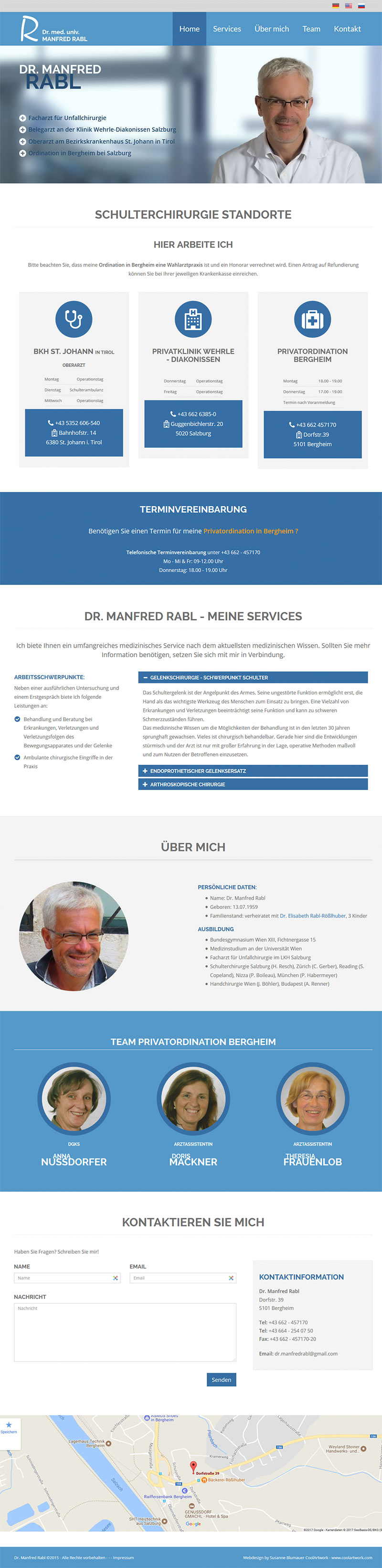 Screenshot Webseite Dr.Manfred Rabl